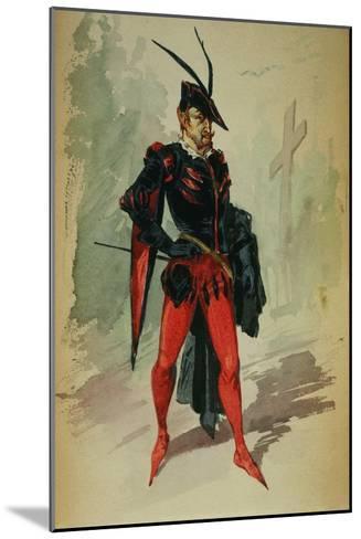 Costume Design by G. Palanti for the Opera Mephistopheles by Arrigo Boito-Giuseppe Palanti-Mounted Giclee Print