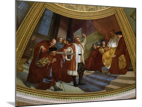 Galileo Galilei, 1564-1642, Italian Astronomer and Mathematician--Mounted Giclee Print