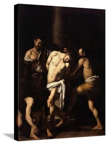 The Flagellation of Christ-Caravaggio-Stretched Canvas Print