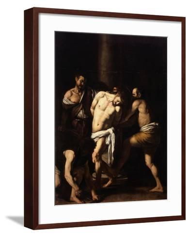The Flagellation of Christ-Caravaggio-Framed Art Print