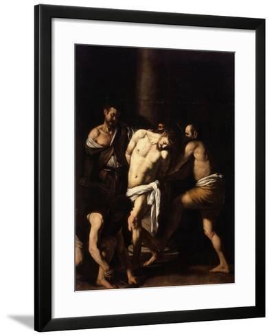 The Flagellation of Christ-Caravaggio-Framed Art Print
