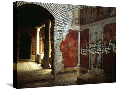 Interior court of Roman villa on Mount Coressos, Ephesus, Turkey--Stretched Canvas Print