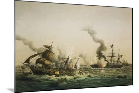 Naval Engagement Between the U.S.S. Kearsarge and the Confederate sea raider Alabama-Lt-Col Lebreton-Mounted Giclee Print