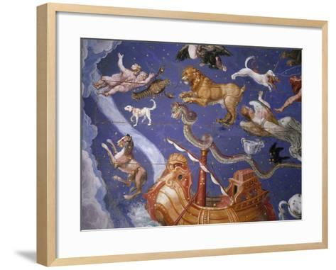 Ceiling from Sala del Mappamondo Fresco by G. De Vecchi and da Reggio--Framed Art Print