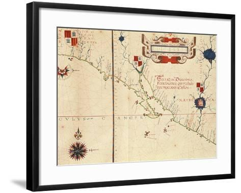 Lower California and West Coast of Mexico, Hydrographic Atlas of 1571 by Fernan Vaz Dourado--Framed Art Print