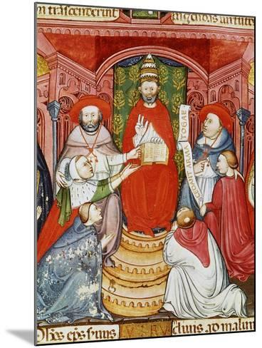 Pope Clement VII, 1478-1534 (Giulio de Medici), Dictating his Laws, 16th century Manuscript--Mounted Giclee Print