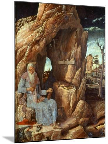 Saint Jerome, 341-420 AD, as Hermit in a Cave-Andrea Mantegna-Mounted Giclee Print