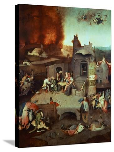 The Temptation of Saint Anthony of Egypt 251-356 founder of monasticism-Hieronymus Bosch-Stretched Canvas Print