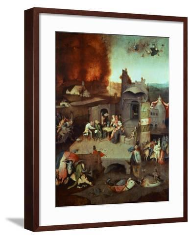The Temptation of Saint Anthony of Egypt 251-356 founder of monasticism-Hieronymus Bosch-Framed Art Print