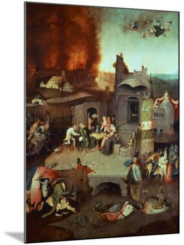 The Temptation of Saint Anthony of Egypt 251-356 founder of monasticism-Hieronymus Bosch-Mounted Giclee Print