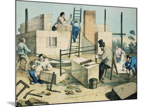 Stonecutter, Mason and Sawyer, 19th century French Engraving--Mounted Giclee Print