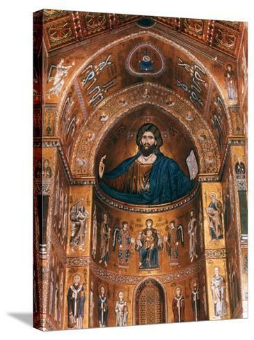 Mosaics on Apse including Christ Pantocrator, 12th century--Stretched Canvas Print
