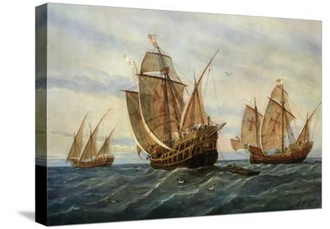 Caravels of Christopher Columbus, 1451-1506 Italian (Genoese) Explorer-Rafael Monleon Y Torres-Stretched Canvas Print