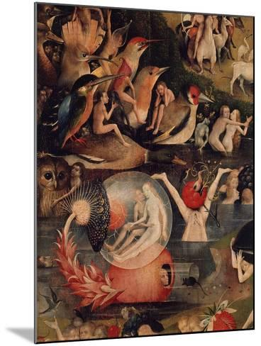 Allegory of Luxury, Central Panel of The Garden of Earthly Delights, c. 1503-04-Hieronymus Bosch-Mounted Giclee Print