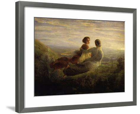 The Soul's Flight-Louis Janmot-Framed Art Print