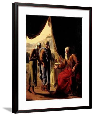 Abraham's Wife, Sarah, Presenting her Handmaid Hagar to her Husband as a Concubine-Andre Jacques Victor Orsel-Framed Art Print