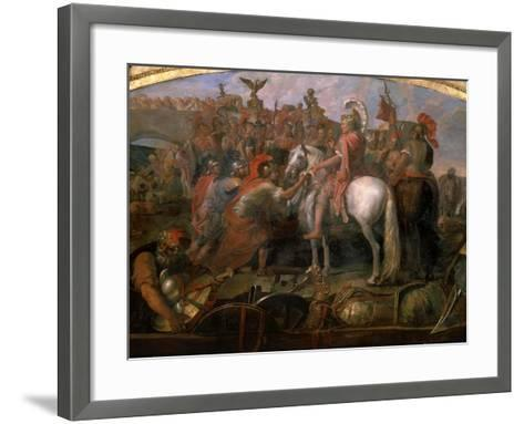 Julius Caesar, 100-44 BC Roman general, Sending Roman Colony to Carthage-Claude Audran the Younger-Framed Art Print