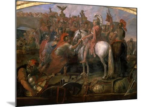 Julius Caesar, 100-44 BC Roman general, Sending Roman Colony to Carthage-Claude Audran the Younger-Mounted Giclee Print