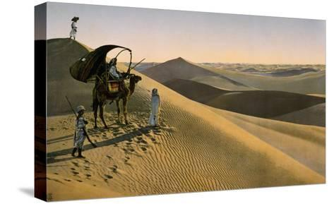 Sahara desert, Egypt, Late 19th - Early 20th century--Stretched Canvas Print