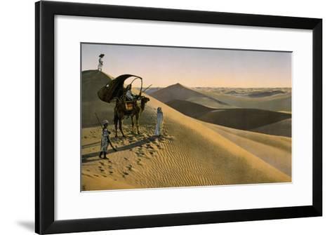 Sahara desert, Egypt, Late 19th - Early 20th century--Framed Art Print