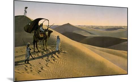 Sahara desert, Egypt, Late 19th - Early 20th century--Mounted Giclee Print