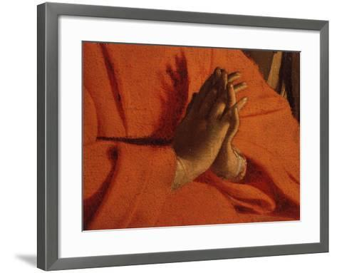 Praying Hands (of the Virgin Mary), from The Adoration of the Shepherds-Georges de La Tour-Framed Art Print