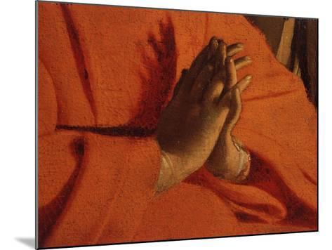Praying Hands (of the Virgin Mary), from The Adoration of the Shepherds-Georges de La Tour-Mounted Giclee Print