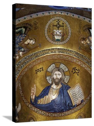 Christ Pantocrator, Palatine chapel, Palazzo dei Normanii or Palazzo Reale, Palermo, Sicily--Stretched Canvas Print