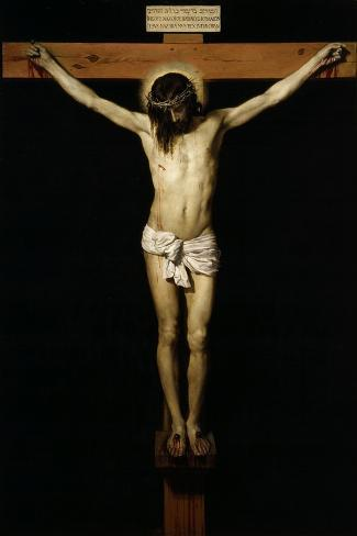 Cristo Crucificado (Christ on the Cross)-Diego Velazquez-Stretched Canvas Print