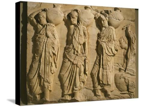 Bearers Carrying Hydria, the Parthenon Frieze (East Side), c. 442-38 BC Classical Greek--Stretched Canvas Print