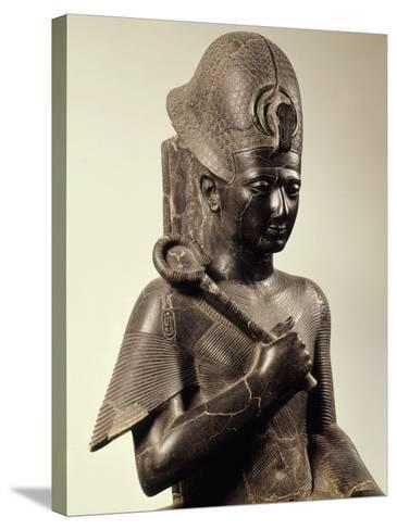 Ramses II, 1279-13 BC 19th Dynasty New Kingdom Egyptian Pharaoh, Seated on Throne, Granite--Stretched Canvas Print