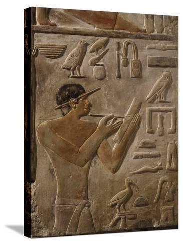 False Door Stele of Mery, Scribe and Head of Royal Archives at Saqqarah, (c. 2575-2450 BC)--Stretched Canvas Print