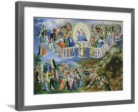 Last Judgement, Copy of Version by Fra Angelico (1387-1455)-Bartholomaeus Spranger-Framed Art Print