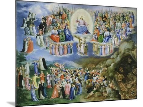 Last Judgement, Copy of Version by Fra Angelico (1387-1455)-Bartholomaeus Spranger-Mounted Giclee Print