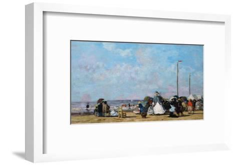 On the Beach, Trouville-Eug?ne Boudin-Framed Art Print