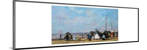 On the Beach, Trouville-Eug?ne Boudin-Mounted Giclee Print