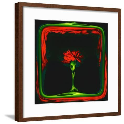 Red Carnation Formalized in a Frame-Winfred Evers-Framed Art Print