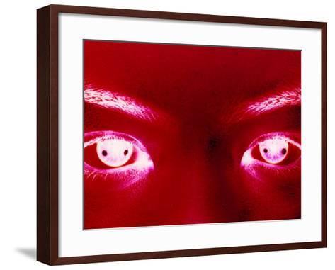 Red Eyes Open-Ade Groom-Framed Art Print