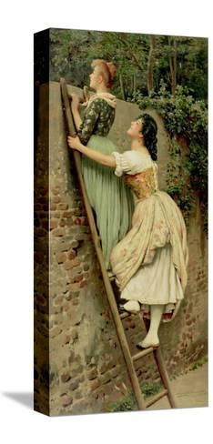 Curiosity, from the Pears Annual, Christmas, 1892-Eugen Von Blaas-Stretched Canvas Print