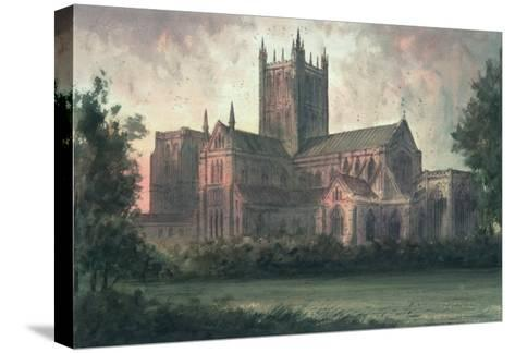 Wells Cathedral: View from the Southeast-Paul Braddon-Stretched Canvas Print