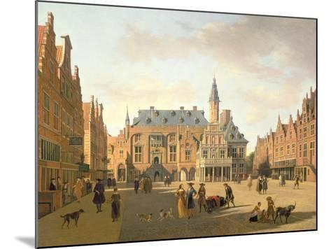 The Market Place with the Raadhuis, Haarlem-Gerrit Adriaensz Berckheyde-Mounted Giclee Print