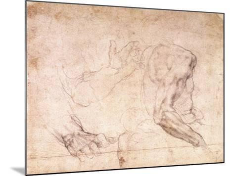 Studies of Hands and an Arm-Michelangelo Buonarroti-Mounted Giclee Print