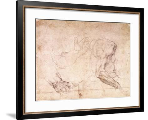Studies of Hands and an Arm-Michelangelo Buonarroti-Framed Art Print