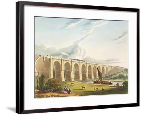 Viaduct across the Sankey Valley, Plate 'Liverpool and Manchester Railway', engraved by Henry Pyall-Thomas Talbot Bury-Framed Art Print