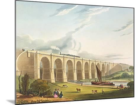 Viaduct across the Sankey Valley, Plate 'Liverpool and Manchester Railway', engraved by Henry Pyall-Thomas Talbot Bury-Mounted Giclee Print