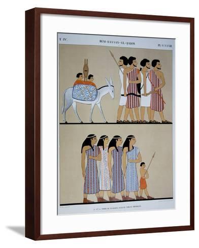 Fresco of the Tomb of Nevothph at Beni-Hassan-El-Qadim-Jean Francois Champollion-Framed Art Print
