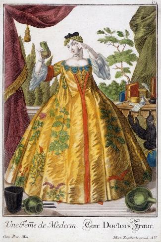 A Woman of Medicine-Martin Engelbrecht-Stretched Canvas Print