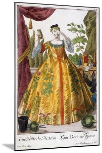A Woman of Medicine-Martin Engelbrecht-Mounted Giclee Print