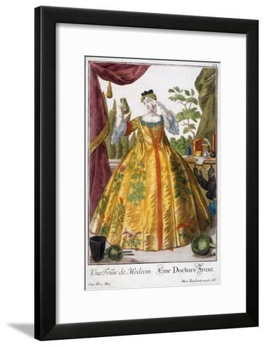 A Woman of Medicine-Martin Engelbrecht-Framed Art Print