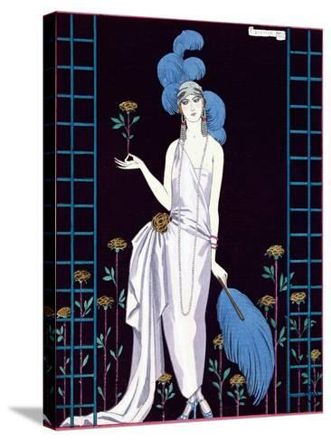 La Roseraie', Fashion Design for an Evening Dress by the House of Worth-Georges Barbier-Stretched Canvas Print